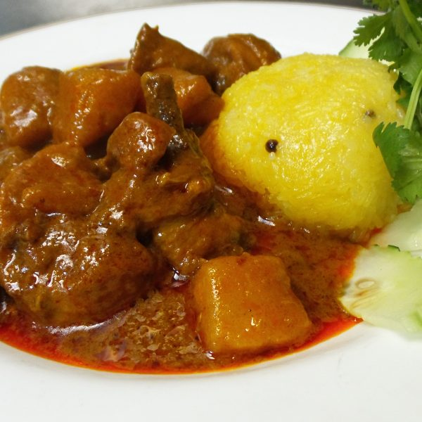 Nasi Kuning with Curry Chicken